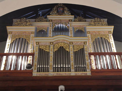 VIEW: THE NEW ORGAN IN THE PANAMA CATHEDRAL ST. MARIA ANTIGUA